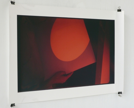 Sunsetglow (solar projection on high-glossy print), (2) 2003