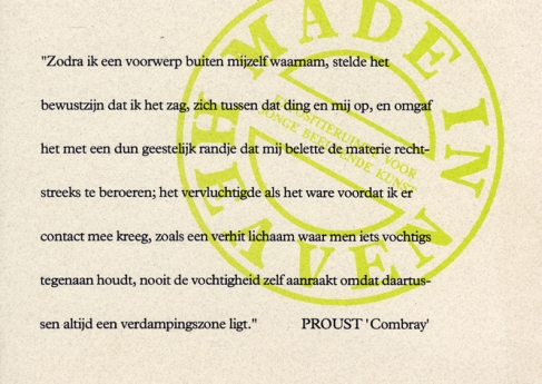 Uitndigingskaart MIH 1993-Proust cit